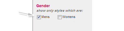 Select mens gender