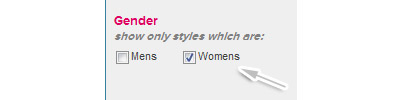 Select women's gender