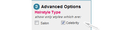 Select celebrity option