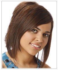 Graduated layered hairstyle
