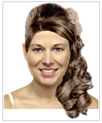 Bridal hairstyle with accessories