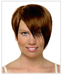 Diamond face shape short hairstyle