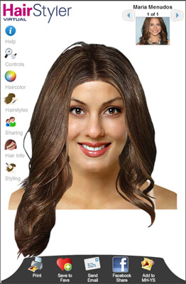 Try on virtual hairstyler