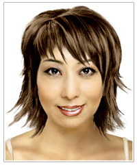 Oblong face shape medium hairstyle