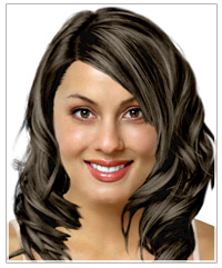 Oval face shape long hairstyle