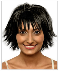 Round face shape medium hairstyle