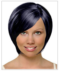 Square face shape short hairstyle