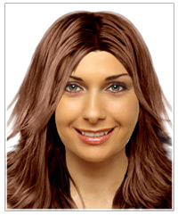 Triangular face shape long hairstyle