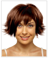 Triangular face shape medium hairstyle