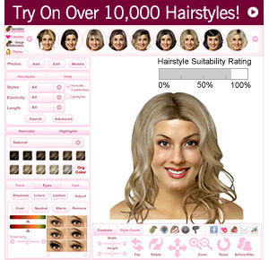 Virtual Hairstyler - 1000s of Hairstyles, 50 colors, 35 highlights and makeup!