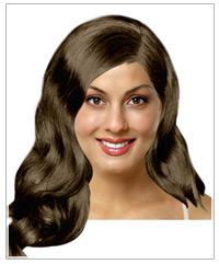 Long wavy bridal hairstyle