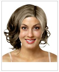 Medium wavy bridal hairstyle