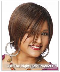 Model short straight hair