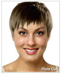 Model with pixie short haircut