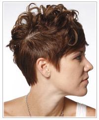 Short curly shaved hairstyle