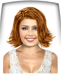 Copper blonde hair color
