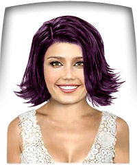 Darkest violet hair color