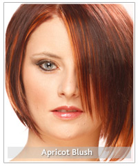 Model with red hair and apricot cheeks