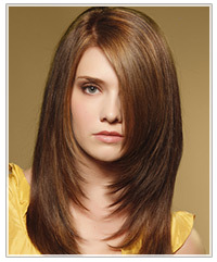 Model with long straight hair