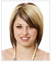 Model with short straight hair