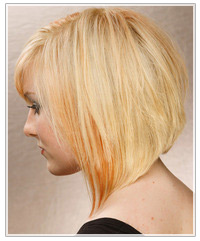 Model with subtle orange two-tone hair
