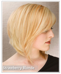 Model with strawberry blonde hair color