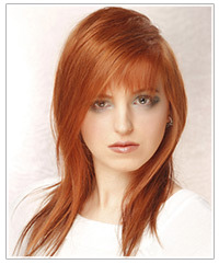 Model with light red hair