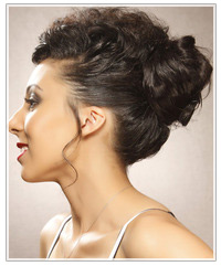 Model with an updo