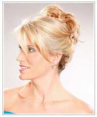 Blonde model with updo