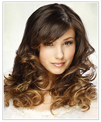 Model with tww-toned ombre hair color