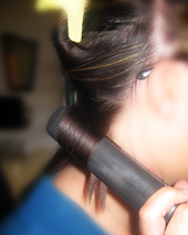 Curl hair using straightener