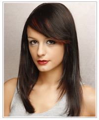Model with long black hair