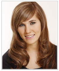 Model with long light brown hair