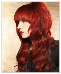Model with long red waves
