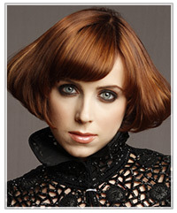 Model with short bob