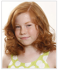 Child model with red hair