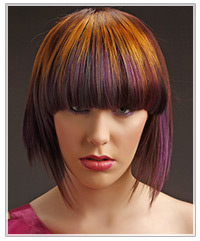 Model with colorful highlights