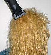 Blow-dry hair