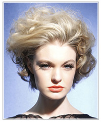 Model with short wavy hair