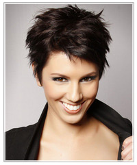 Model with short textured hair