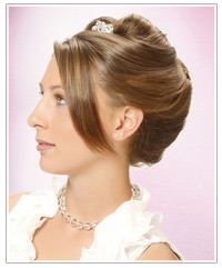 Model with elegant updo