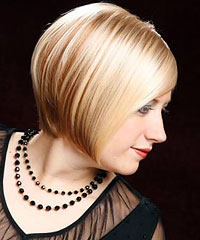 Short bob mod hairstyle