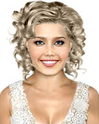 Hairstyle with creative curls