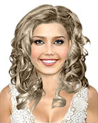 Hairstyle with roller curls