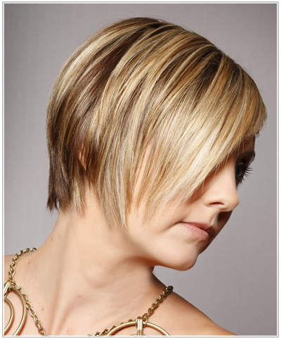 Model with highlighted hair