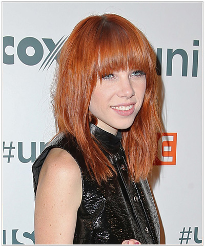 Carly Rae Jepsen hairstyle