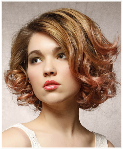 Model with a subtle two tone hair color