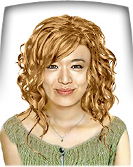 Light golden copper hair color