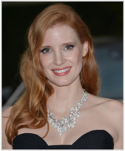 Jessica Chastain hairstyles