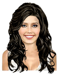 Long wavy black hairstyle